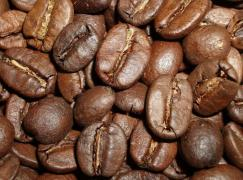NATURAL coffee beans and ground